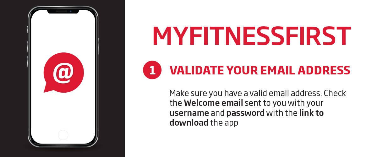 My Fitness First application - email validation guide